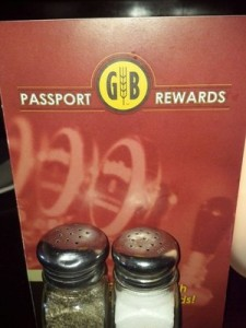 Gordon Biersch Passport Rewards