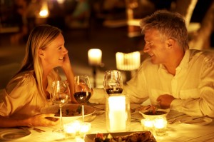 Couple Dining and Enjoying Restaurant Loyalty Rewards