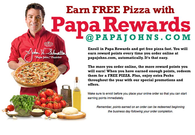 Papa Johns Papa Rewards